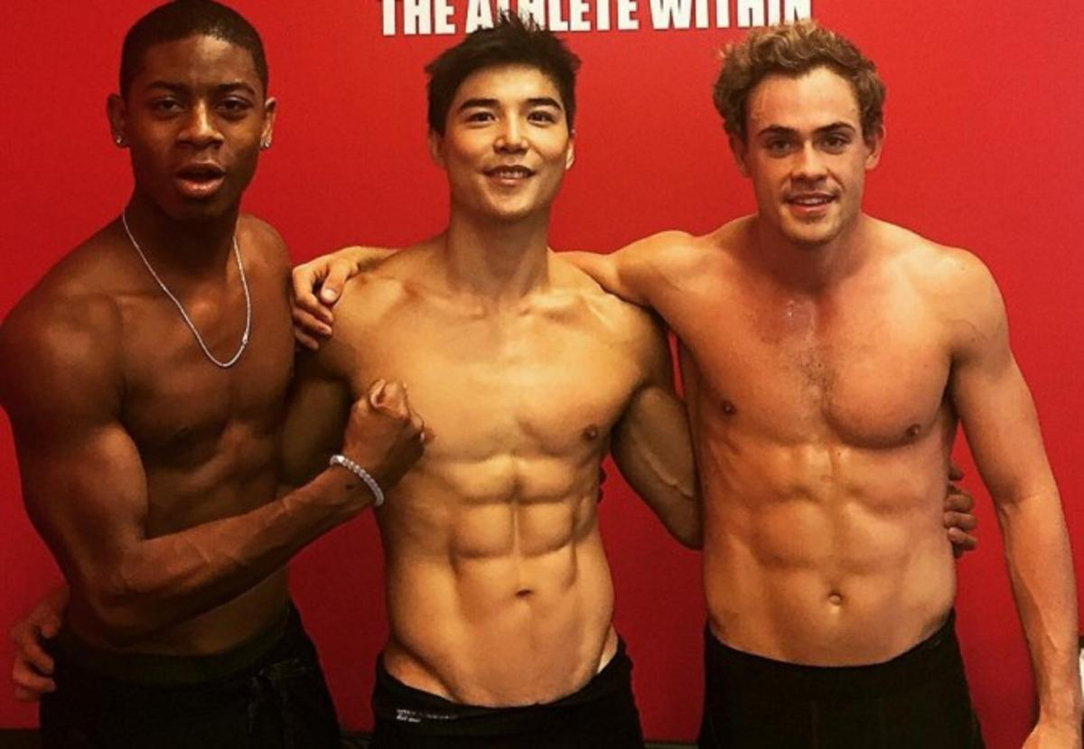 these shirtless pics of the new power rangers are all we need today